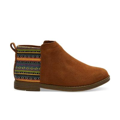 Toms Girl's Cinnamon Suede Deia Ankle Boots