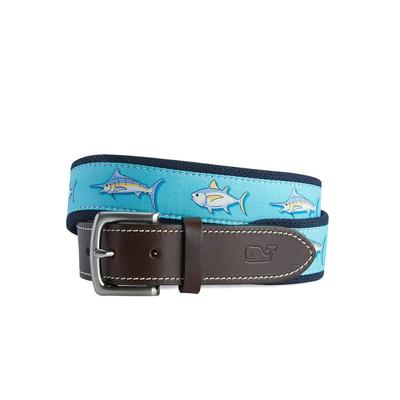 Vineyard Vines Men's Tuna & Marlin Canvas Club Belt