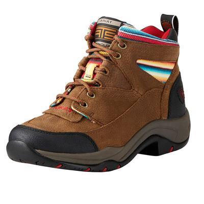 Ariat Women's Terrain Walnut And Serape Stripe Hiking Boot