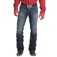 Cinch Men's Ian Dark Stonewash Mid-Rise Slim Boot Jean