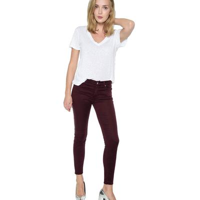 7 For All Mankind B (Air) Denim Ankle Skinny In Mulberry