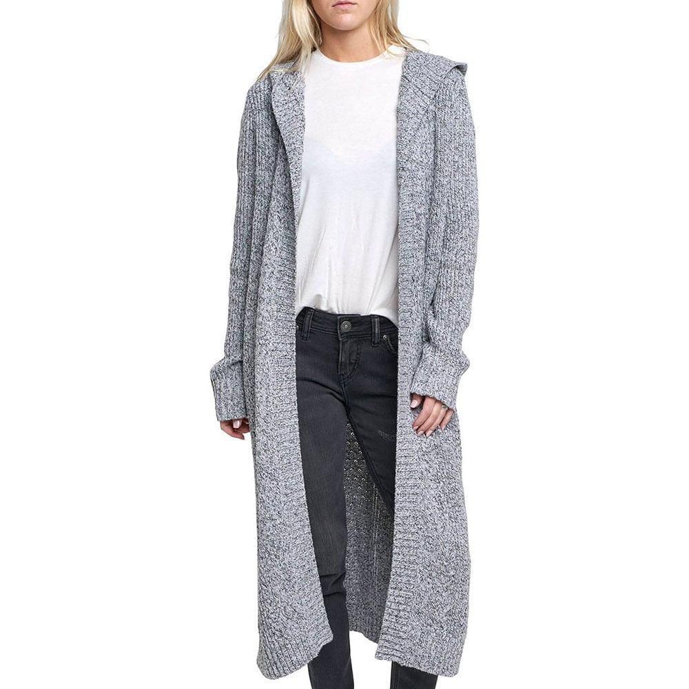 Silver Jeans Women's Hooded Skye Maxi Cardigan