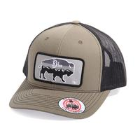 Red Dirt Hat Co.'s Army Green Mountain Buffalo Cap
