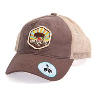 Red Dirt Hat Co.'s Unstructured Sunset Buffalo Cap