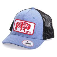 Red Dirt Hat Co.'s Heather Blue Red Buffalo Cap