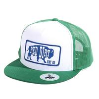 Red Dirt Hat Co.'s Green and White Blue Buffalo Cap