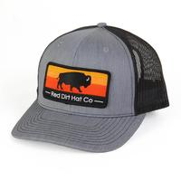 Red Dirt Hat Co.'s Heather Grey Red Buffalo Cap