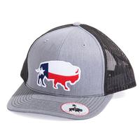 Red Dirt Hat Co.'s Heather Grey Texas Buffalo Cap