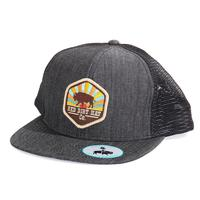 Red Dirt Hat Co.'s Heather Black Sunset Buffalo Cap