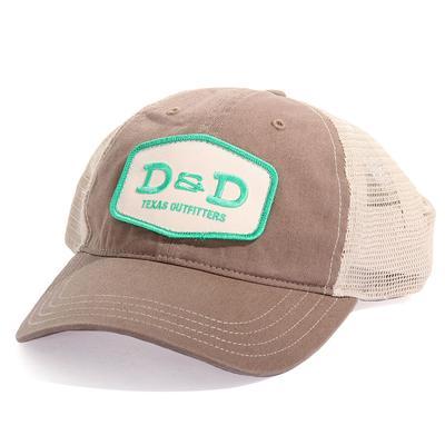 D&D Texas Outfitters Unstructured Khaki Trucker Cap