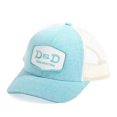 D & D Texas Outfitters Heather Teal Trucker Cap