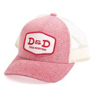 D&D Texas Outfitters Heather Red Trucker Cap
