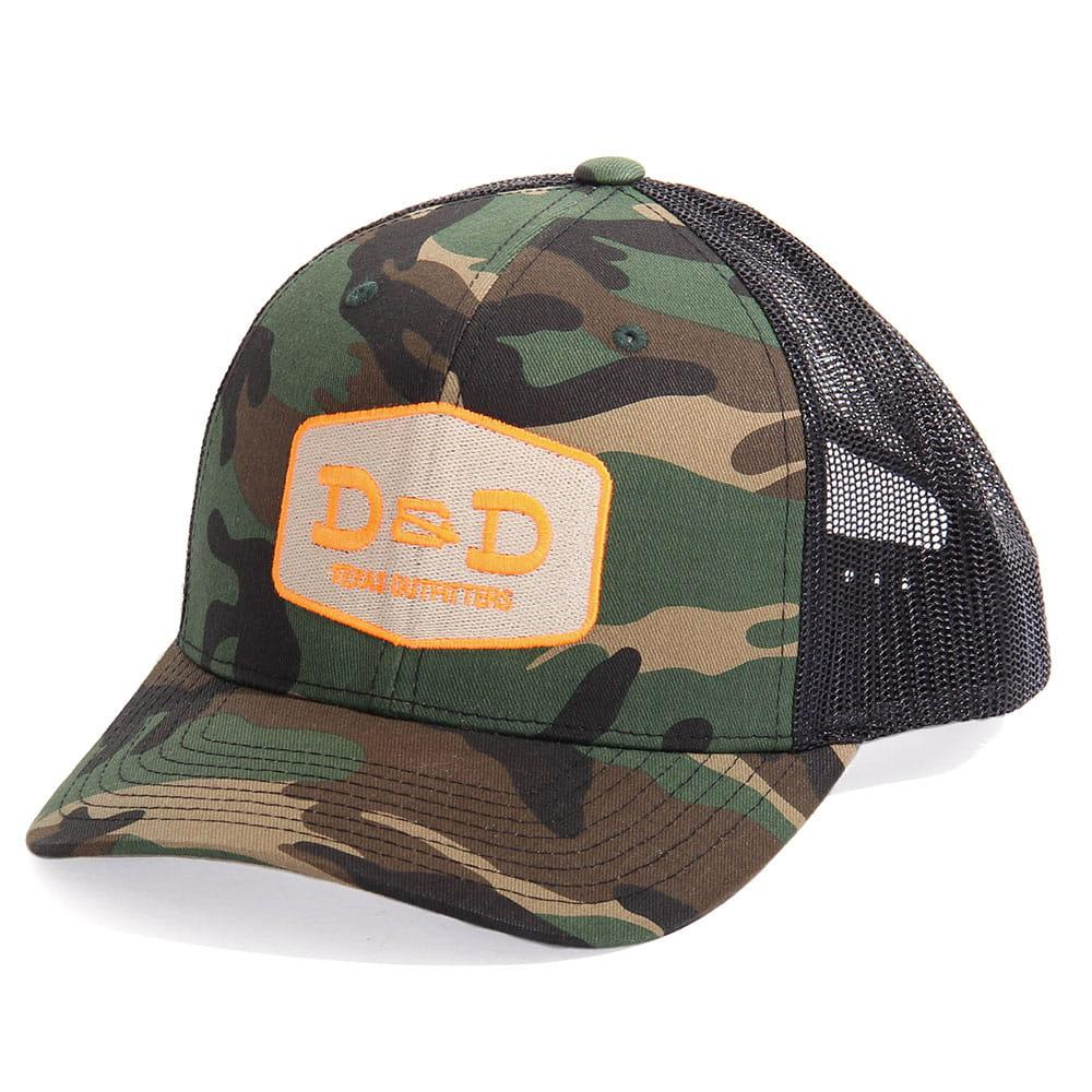 28be1a307 D & Amp ; D Texas Outfitters Camo And Black Trucker Cap