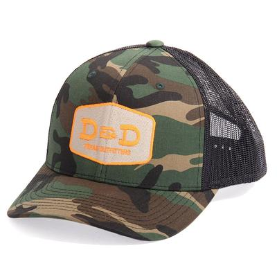 D&D Texas Outfitters Camo and Black Trucker Cap