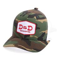 D&D Texas Outfitters Camo and White Trucker Cap