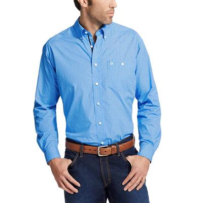 Ariat's Men's Relentless Blue Driven Print Shirt