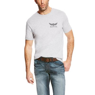 Ariat Men's Relentless Heather Grey Americana T- Shirt