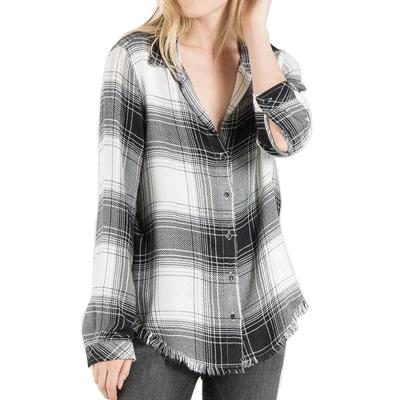 Bella Dahl Women's Fray Hem Button Down Top