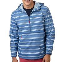 Southern Tide Men's T3 Cabana Admiral Stripe Packable Anorak