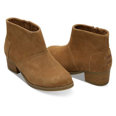 TOMS Girl's Toffee Suede Leila Ankle Boot