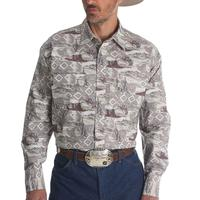 Wrangler Men's Long Sleeve Checotah Dress Shirt