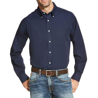 Ariat Men's Solid Navy Blue Shirt