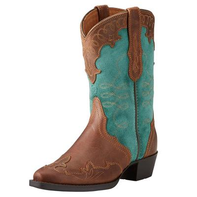 Ariat Girl's Brown And Teal Zealous Boot