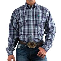 Cinch Men's Long Sleeve Purple Plaid Button Shirt