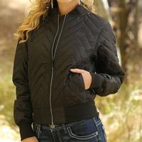 Cruel Girl Women's Black Bomber Jacket
