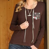 Cruel Girl Women's Long Sleeve Brown Top