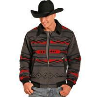 Panhandle Slim Men's Aztec Wool Jacquard Bomber Coat