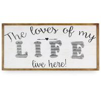Loves My Life Wood Wall Sign