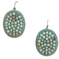 Pink Panache's Turquoise Cabochon Oval Earring