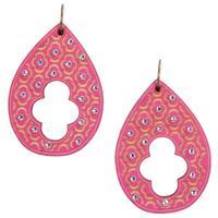 Pink Panache's Wooden Teardrop Earring