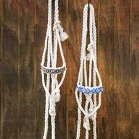 Cowboy Braided Rope Halter with Beaded Nose by Professional's Choice