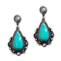 Turquoise Tear Drop Earring