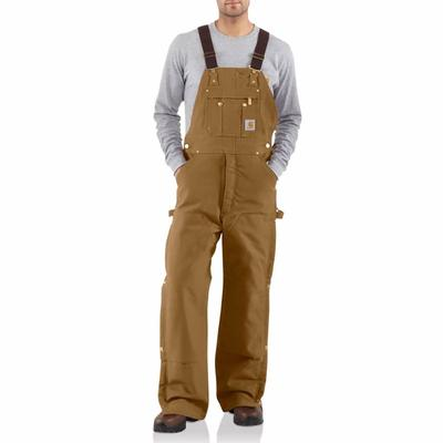 Carhartt Men's Quilt-Lined Duck Zip To Thigh Bib Overall