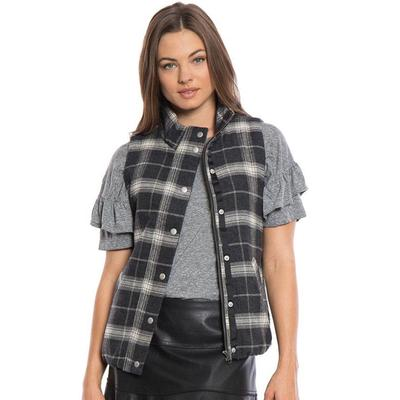 Dylan Women's Flannel & Frosty Tipped Lined Vest