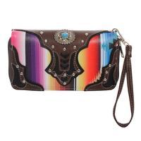 Women's Serape Turquoise Concho Wallet