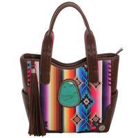 Women's Serape Turquoise Stone Handbag