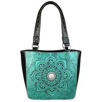 Montana West Floral Tooled Tote Bag