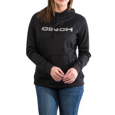Cinch Women's Black Aztec Logo Pullover Hoodie