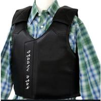 Saddle Barn, Inc. Faux  Leather Junior Protective Vest