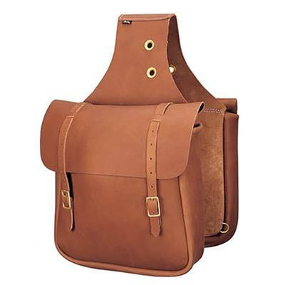 Weaver Saddle Bag in Brown Chap Leather