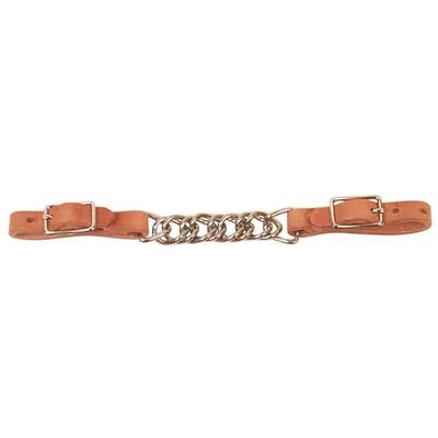 Schutz Brothers Harness Leather Flat Link Chain Curb