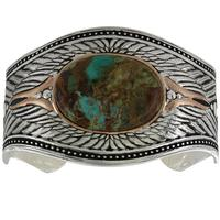 Montana Silversmiths's Feathered Flight Turquoise Cuff Bracelet