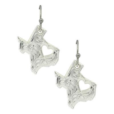 Montana Silversmiths's My Heart Belongs in Texas Earrings