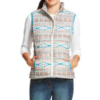 Ariat Women's Aztec Print Ideal Down Vest
