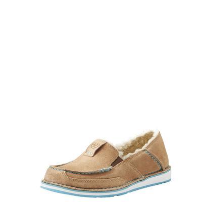 Ariat Women's Taupe Suede Cruiser Fleece Shoes