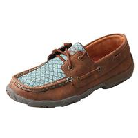 Twisted X Women's Blue Fish Moccasin Shoes